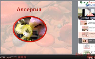 Видеоурок Аллергия. Группы крови